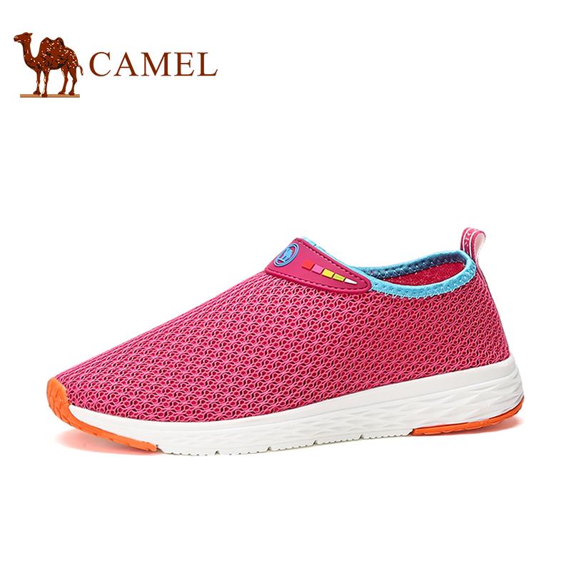 骆驼牌女鞋 新品时尚运动休闲鞋轻盈透气网面鞋女镂空单鞋