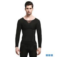 男士塑身内衣塑型打底长袖 薄款透气紧身束胸收腹束腰