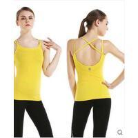 健身舞蹈运动服上衣带胸垫瑜伽服修身显瘦吊带背心瑜伽弹力紧身服
