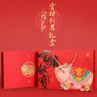[壹只盒子]2019红包春联福字门贴对联大礼包新年装饰可定制