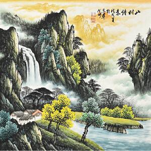 江西省美术家协会会员 王有彬《山村诗意》gs00936