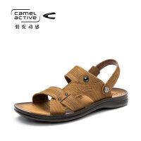骆驼动感男鞋凉鞋潮夏季真皮韩版休闲鞋男士沙滩鞋