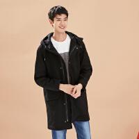 【1件3折到手价:67.77】美特斯邦威男大衣冬装新款帅气中长款风衣601665