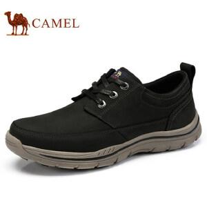 camel 骆驼男鞋 秋季新品时尚轻盈工装鞋柔软缓震牛皮休闲鞋
