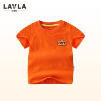 lavla童装 夏季宝宝儿童针织短袖T恤1-3岁-4-6岁男童纯棉短T