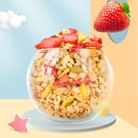 早谷力奇��籽多多草莓水果燕��脆烘焙燕��片�_�代餐早餐350g