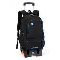 拉杆包可拉行李包拉杆书包学生护脊书包减负拉杆包