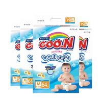 【四包】保税区发货 GOO.N大王 维E系列 婴儿纸尿裤 M64片(6-11kg) 海外购