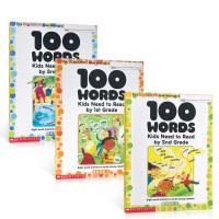 英文原版 学乐小学生练习册100 sight words kids need to read 1-2-3年级 Schol