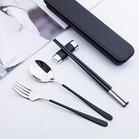 筷子勺子套装 便当小学生叉子一人 旅行式外带盒餐具成人便携木质