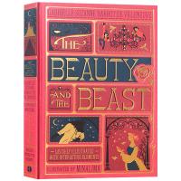 The Beauty and the Beast 美女与野兽 立体书 英文原版小说 全彩复刻插图版 迪士尼经典童话 同名