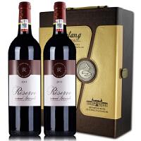 拉菲珍藏波尔多红葡萄酒 法国拉菲原瓶原装进口红酒 2013年750ml*2礼盒装