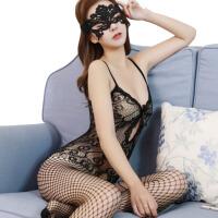 紧身开档式透明装诱惑性感丝袜用品女夫妻情趣内衣激情套装