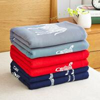 纯棉纱布盖毯超柔吸水加大厚儿童毛巾被子单双人三层纱布毛巾被