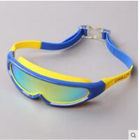 儿童泳镜防水防雾男童女童大框游泳眼镜高清电镀潜水中大童游泳镜 可礼品卡支付
