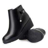 RD2019秋冬新款女短靴羊毛中跟女靴加绒保暖棉鞋35-42