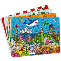 动手动脑玩拼图4-6岁全4册_小红花宝宝智力儿童拼图小红花童书畅销书儿童拼图玩具 幼儿益智拼图