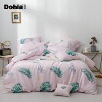 多喜爱纯棉四件套ins森系仙女床上用品全棉套件三件套新品叶境