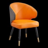 北欧轻奢餐椅洽谈桌椅组合靠背椅子简约用后现代网红餐厅酒店书