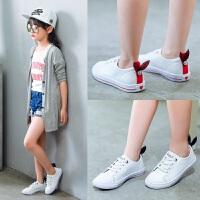 牛皮女童小白鞋2017新款韩版潮夏季儿童运动鞋中大童板鞋女童鞋