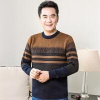 秋冬爸爸装毛衫线衣中年毛衣男士父亲圆领针织衫40-50岁中老年人