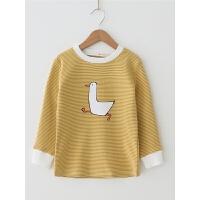 儿童打底衫女宝宝长袖上衣秋冬装女童保暖洋气棉T恤