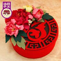 春节新年装饰礼物 糖果盒 收纳置物盒 手工diy制作 成人材料包