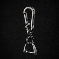 汽车遥控器钥匙扣挂件创意个性男士腰挂钥匙链圈环锁匙扣D马蹄扣