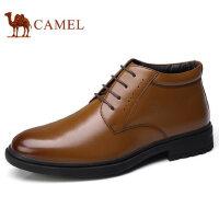 camel 骆驼男鞋秋季新品商务正装牛皮高帮皮鞋保暖男士皮鞋子