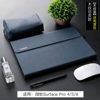 微软surface pro6保护套3新pro5平板电脑go保护壳pro4皮套12.3寸内胆包电脑包二 原生仿皮款-木纹