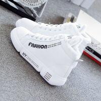 雪地靴女高帮棉鞋平底韩版学生小白鞋保暖加绒加厚休闲运动女鞋