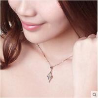 韩国风时尚气质银饰品925银项链女毛衣链短款锁骨链