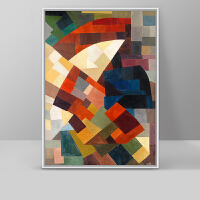 玄关装饰画抽象油画现代简约走廊过道抽象装饰画 奥托-像素之美 有框高143*长103 按拍下颜色发货