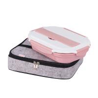 小学生便当盒不锈钢分格饭盒可放筷勺 儿童保温餐盘微波炉餐盒家用