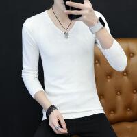 №【2019新款】冬天穿的男士毛衣男V领韩版修身潮流纯色针织羊绒衫