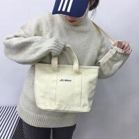 韩国原宿森女港风学生软妹手提斜挎包日系极简风帆布包单肩女包包