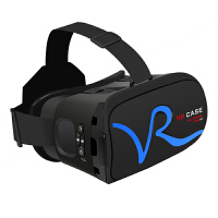 VR CASE VR虚拟现实3D眼镜触控式手机影院智能头戴式游戏头盔成人 蓝色