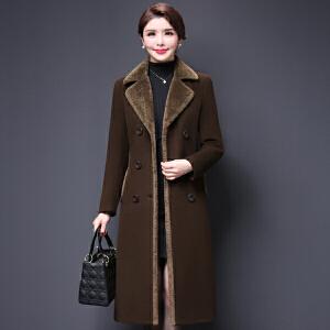 纤纯伊毛呢外套女韩版2018新款呢子大衣