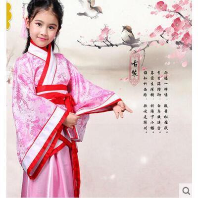 古代公主汉服影楼写真服装儿童古装女汉服对襟襦裙仙女表演服支持礼品