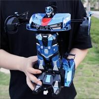 电动变形遥控汽车金刚机器人充电抖音感应儿童玩具3-6周岁小男孩4