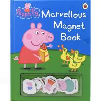 Peppa Pig Marvellous Magnet Book 小猪佩奇磁贴书 奇妙时光 磁贴互动 英语纸板书 英文原
