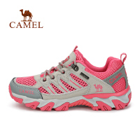 camel骆驼户外登山鞋 男女防滑减震休闲透气低帮徒步网鞋