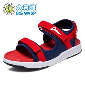 大黄蜂男童凉鞋夏季2017新款 男童中童沙滩鞋
