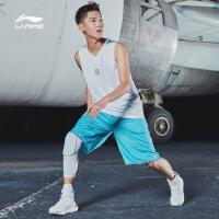 李宁篮球比赛套装男士新款韦德系列速干凉爽篮球服短裤短装运动服AATM025