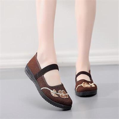 中老年女鞋夏季软底老北京布鞋女网鞋妈妈鞋平底奶奶鞋子春夏
