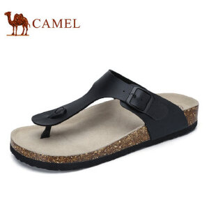 camel骆驼男鞋  夏季新品舒适时尚休闲鞋 夹脚清凉沙滩人字拖鞋