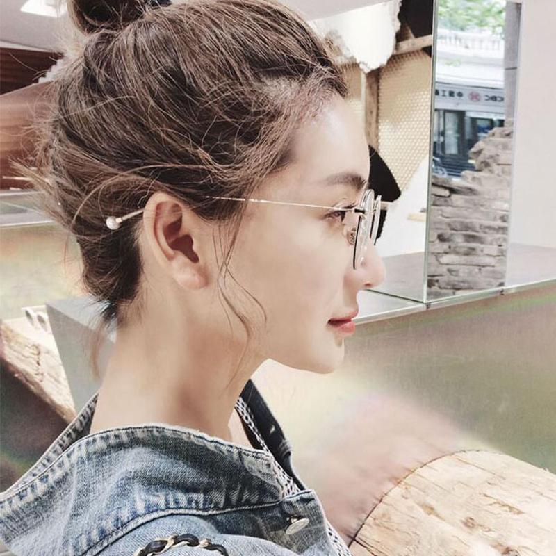 时尚文艺复古眼镜框女潮圆框可配近视眼镜架圆脸平光镜