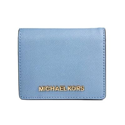 【意大利直邮 】Michael Kors MK短款十字纹钱包 天空蓝