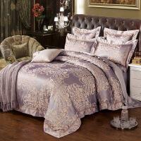 欧式床上用品丝棉贡缎提花四件套 家纺婚庆床品被套床单4件套