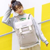 韩版时尚双肩包女学生背包书包2017新款日韩大盖休闲旅行包电脑包